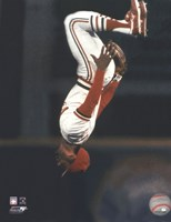 Ozzie Smith Flipping Action Framed Print