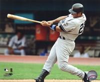 "Jorge Posada 2009 Batting Action - 10"" x 8"""