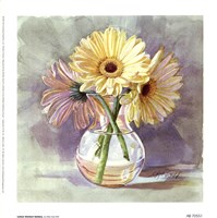 "Lemon Sherbert Gerbera by Mary Kay Krell - 7"" x 7"""