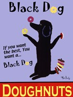 "Black Dog Doughnuts by Ken Bailey - 18"" x 24"""