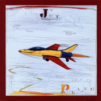 Jet with Red Border Fine Art Print