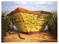 Yellow & Orange Boat Fine Art Print