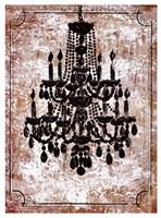 Vintage Chandelier II Fine Art Print
