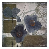 Cerulean Poppies I Fine Art Print