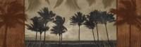 """Sunlit Palms II by Harold Silverman - 36"""" x 12"""""""