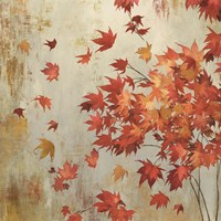 Crimson Foliage Framed Print