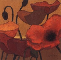 "Poppy Curry II by Shirley Novak - 18"" x 18"""