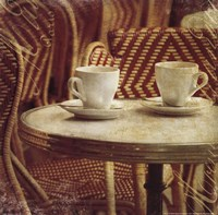 Parisian Cafe III Framed Print