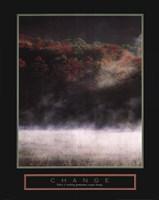 "Change - Misty Lake - 22"" x 28"""