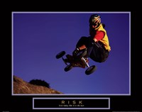 Risk- Mountain Boarder Fine Art Print