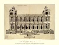 """Facade d'un Palais, (The Vatican Collection) - 34"""" x 26"""""""