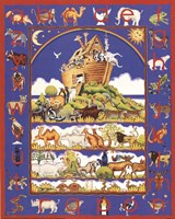 Noah's Ark Alphabet Framed Print