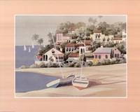 "Sailboats on Shore - 28"" x 22"""