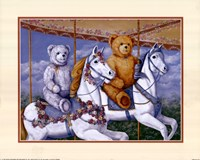 Bears Riding a Carousel Framed Print