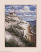 """Lighthouse with Deserted Beach by T.C. Chiu - 16"""" x 20"""""""