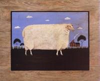 "Sheep On Farm - 20"" x 16"""