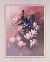 Birds with Blossoms Fine Art Print