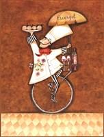 """Escargot Chef by Sydney Wright - 12"""" x 16"""""""
