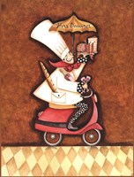 """Hors D'oeuvre Chef by Sydney Wright - 12"""" x 16"""""""