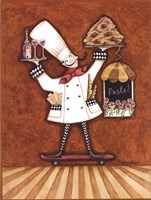 "Pasta Chef by Sydney Wright - 12"" x 16"""