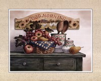 Good Morning Plaque Framed Print