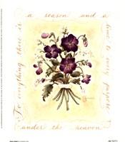 Floral Violet Fine Art Print