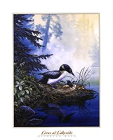 """Loons at Lakeside by Michelle Mara - 16"""" x 20"""", FulcrumGallery.com brand"""