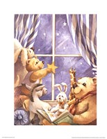 Teddy Bear Stars Framed Print