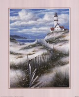 Lighthouse with Sand Dunes Fine Art Print
