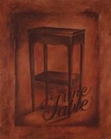 Une Table Fine Art Print