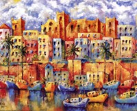 """Boat Harbor by Wendy Wooden - 20"""" x 16"""""""