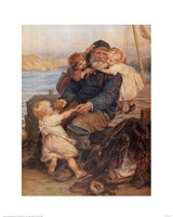 Fisherman with Children Fine Art Print