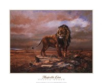 """Majestic Lion by S. Duran - 20"""" x 16"""""""