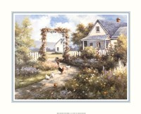 Country Home with  Front Garden Fine Art Print