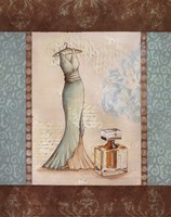 Aqua Fashion I - mini Fine Art Print