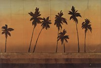 "Sunset Palms I - CS by Cheryl Martin - 36"" x 24"""