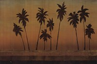 "Sunset Palms II - CS by Cheryl Martin - 36"" x 24"""