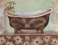 Tropical Bath I - mini Fine Art Print