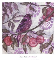 "PLUM SONG I by Kate Birch - 13"" x 14"""