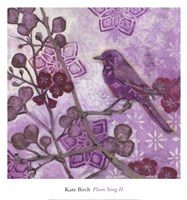"PLUM SONG II by Kate Birch - 13"" x 14"""