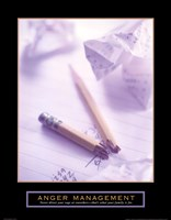 "Anger Management - Broken Pencil - 22"" x 28"""
