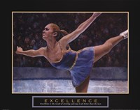 "Excellence - Ice Skater by T.C. Chiu - 28"" x 22"""