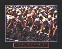 "Sacrifice - Starting Line Bicycle Race - 28"" x 22"" - $13.99"