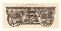 "Winged Lionesses, (The Vatican Collection) by Giovanni Battista Piranesi - 24"" x 12"""