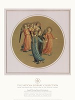 Angels Playing Musical Instruments, Vatican Collection Framed Print