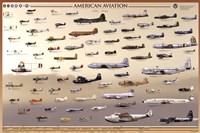 "American Aviation - Early Years (1903-1945) - 36"" x 24"""