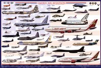 "American Aviation - Modern Era (1946-2010) - 36"" x 24"""