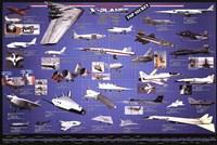 "American Aviation - X-Planes - 36"" x 24"""
