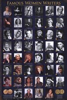 Famous Women Writers Wall Poster