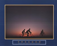 Freedom - Family Biking Fine Art Print